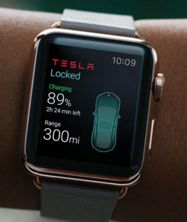 Tesla app para Apple