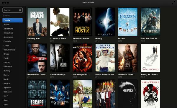 Popcorn el Netflix de los torrents