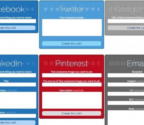 Share Link Generator, crear botones sociales