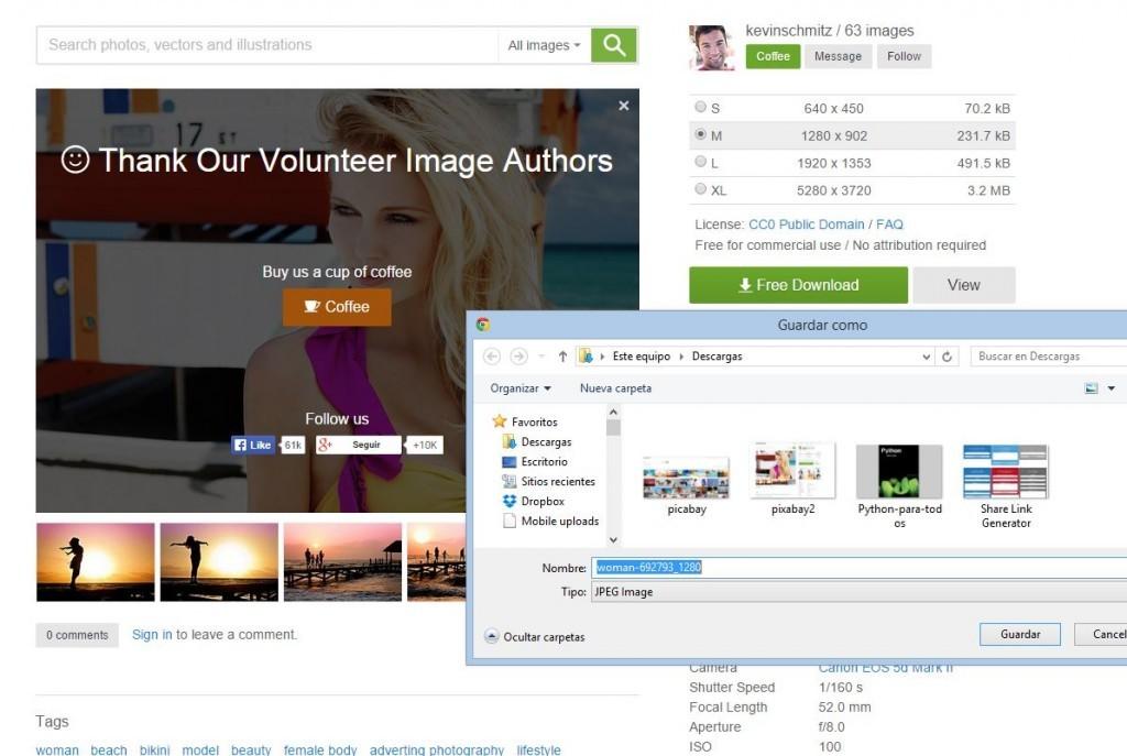 Un banco de imágenes gratuito que sorprende por su gran calidad y cantidad de fotografías, vectores e ilustraciones para ser descargadas de forma gratuita y sin necesidad de registro.